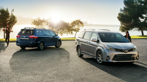 two 2019 Toyota Sienna minivans