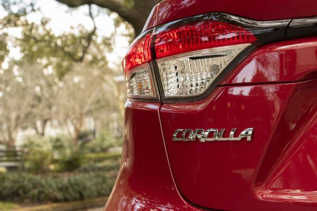 rear logo on a 2020 Toyota Corolla