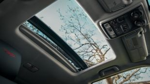 Open sunroof and ceiling of a 2020 Toyota 4Runner