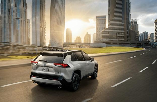 2020 Toyota RAV4 driving along a highway