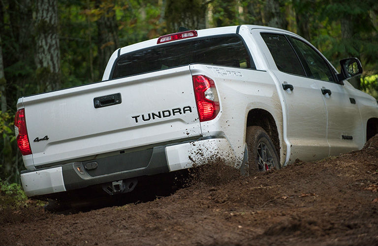 2020 Toyota RAV4 making its way through the muck