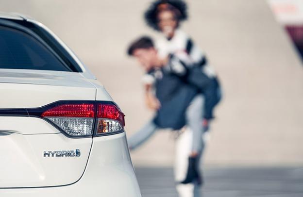 HYBRID lettering on 2021 Toyota Corolla Hybrid