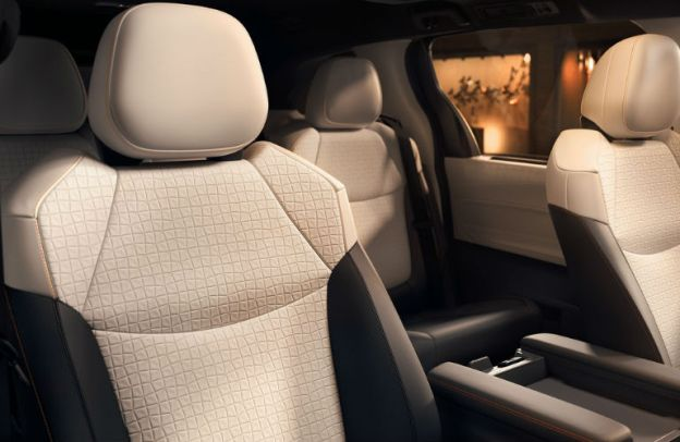 Rear seats inside 2021 Toyota Sienna