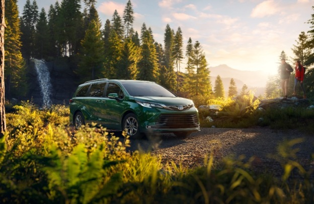2021 Toyota Sienna in the midst of lush nature